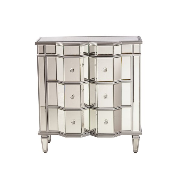 Esme Mirrored 3 Drawer Dresser by Design Tree Home