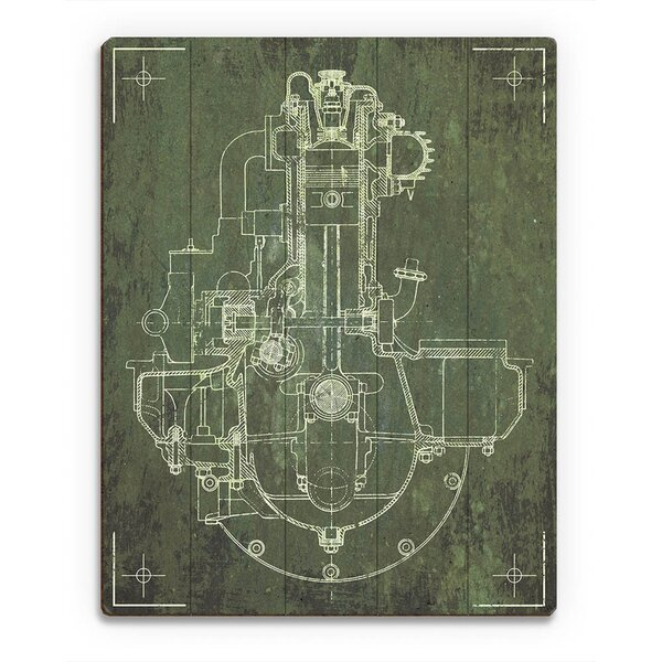 Engine Sketch Graphic Art on Canvas by Click Wall Art