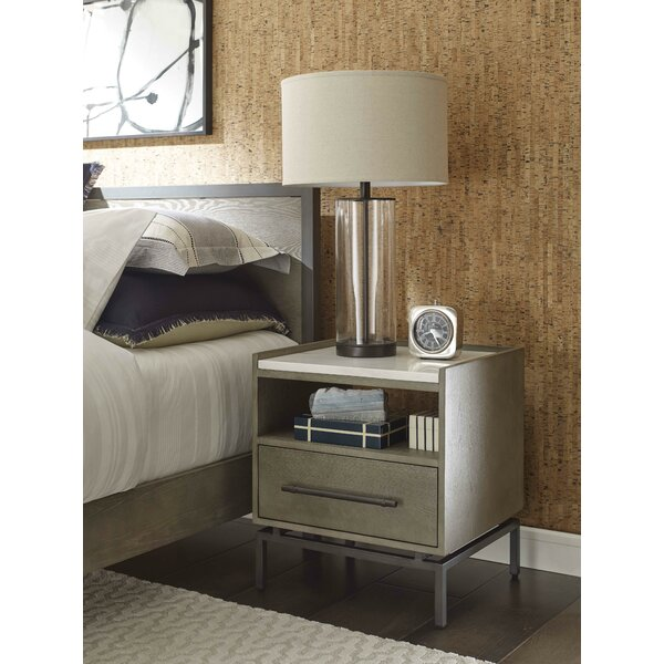 Ascher 1 Drawer Nightstand by Tommy Hilfiger