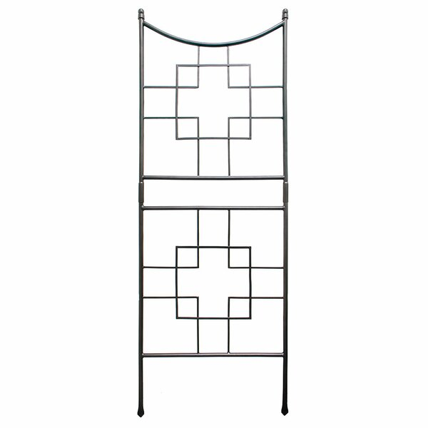 Square-on-Squares Iron Arched Trellis by ACHLA