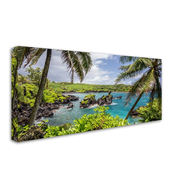 Tropical Paradise Maui by Pierre Leclerc Photographic Print on Wrapped Canvas by Trademark Fine Art