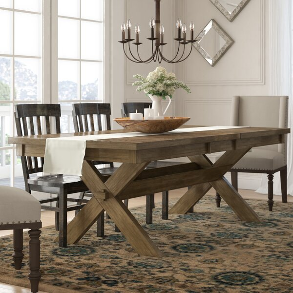 Fresh Poe Cross-buck Extendable Dining Table By Gracie Oaks Great Reviews