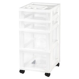 Read Reviews Storage Cart 26.44 H x 12.05 W x 14.25 D Drawer Organizer ByIRIS USA, Inc.