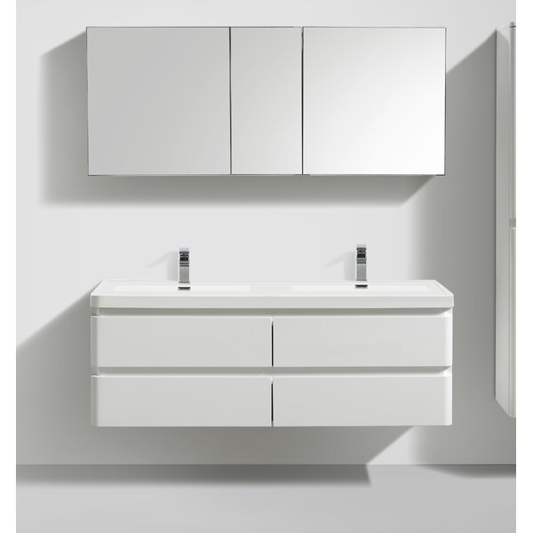 Mccarty 59 Wall- Mounted Double Bathroom Vanity by Orren Ellis