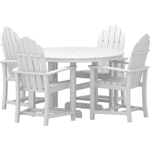 Classic Adirondack Dining 5-Piece Set by POLYWOOD®