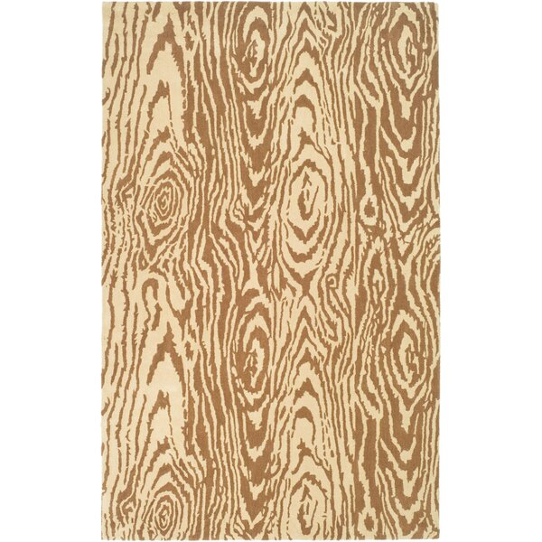 Layered Faux Bois Hand-Loomed Sequoia Area Rug by Martha Stewart Rugs