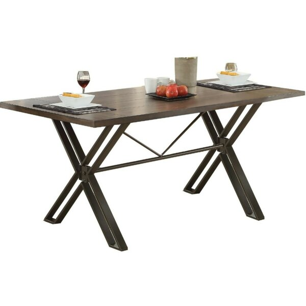 Calzada Modern Solid Wood Dining Table by Williston Forge