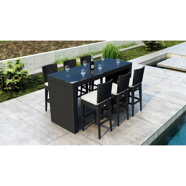 Glendale 7 Piece Bar Height Dining Set by Everly Quinn