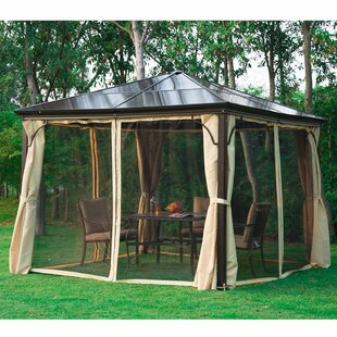 10 Ft. W x 10 Ft. D Metal Permanent Gazebo & Hardtop Gazebos Youu0027ll Love | Wayfair.ca