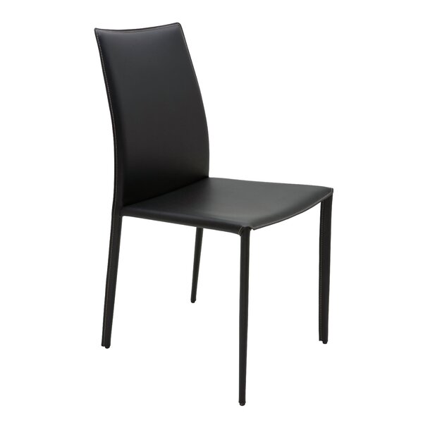 Woodhollow Genuine Leather Upholstered Dining Chair by Ebern Designs