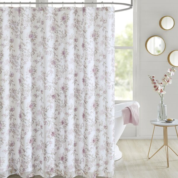 Tyree Floral Printed Shower Curtain by Ophelia & Co.