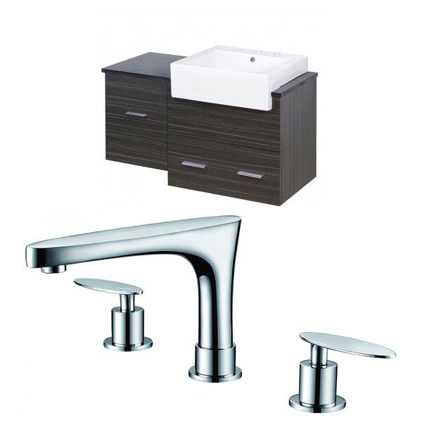 Hindman 37 Wall-Mounted Single Bathroom Vanity Set