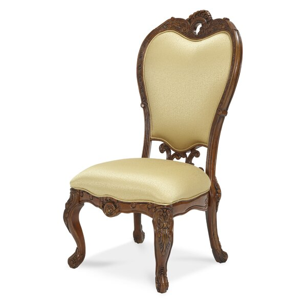 Palais Royale Upholstered Side Dining Chair in Cherry by Michael Amini Michael Amini