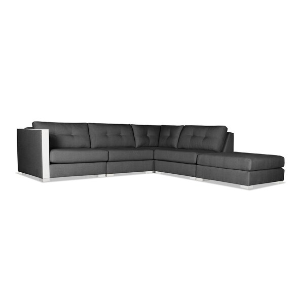 Steffi Buttoned Modular Sectional with Ottoman by Orren Ellis