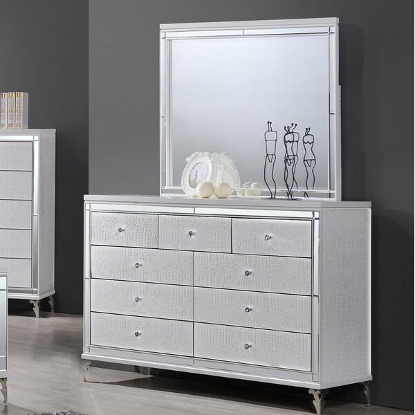 Garris 9 Drawer Dresser with Mirror by Mercer41
