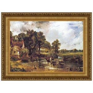 The Hay Wain, 1821 by John Constable Framed Painting Print by Design Toscano