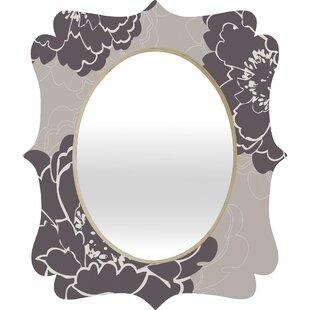 East Urban Home Winter Peony Quatrefoil Accent Mirror