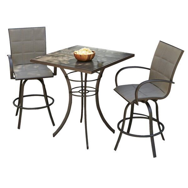 Empire 3 Piece Bar Height Dining Set by The Outdoo