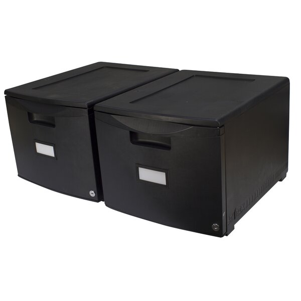 1-Drawer Lateral Filing Cabinet (Set of 2) by Storex