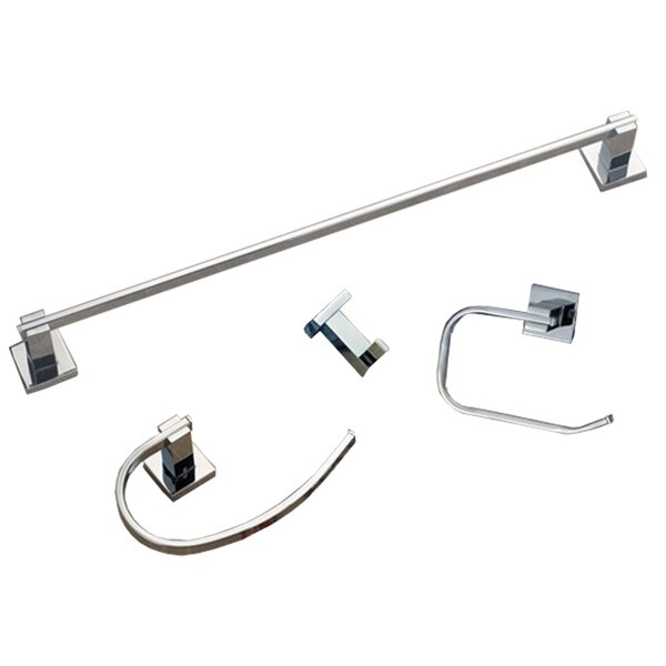 Contempo 4 Piece Bathroom Hardware Set by HomeSelects International