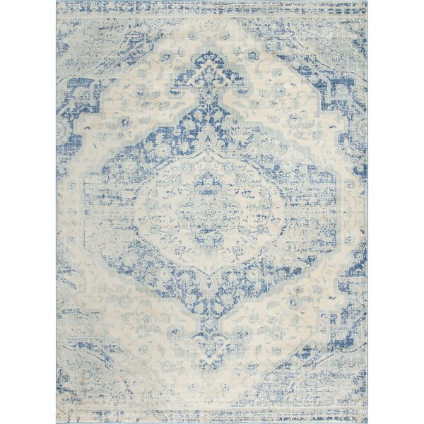 Parodi Blue Area Rug by Bungalow Rose