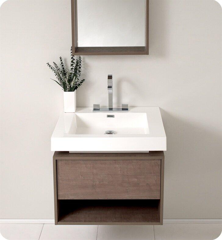 "Modern Bathroom Vanity Sets fresca senza 27"" potenza single modern bathroom vanity set with"
