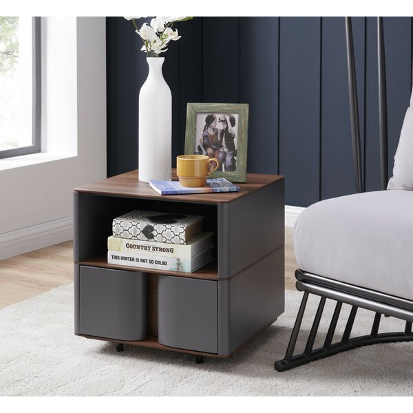 Secaucus End Table With Storage By Union Rustic
