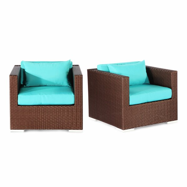 Aloha Hilo Outdoor Deep Armchair with Cushions (Set of 2) by Kardiel