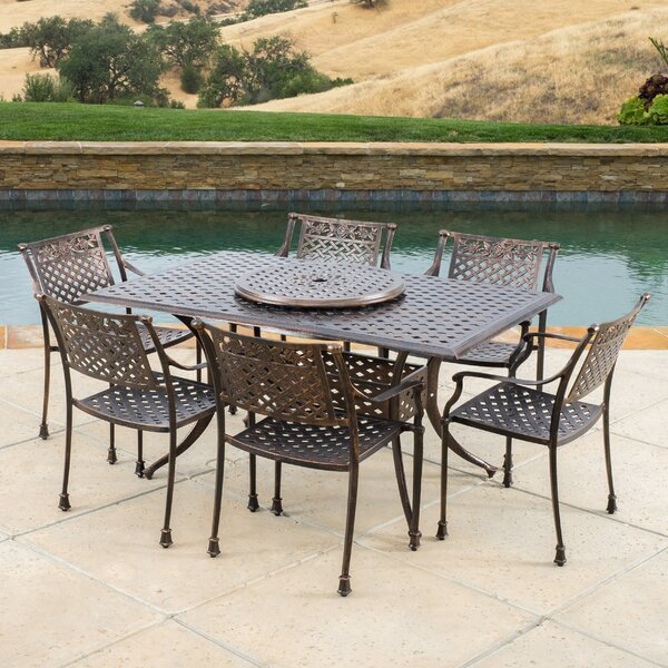 York 7 Piece Dining Set by Darby Home Co