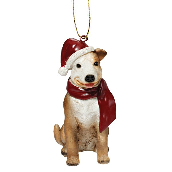 Pitbull Holiday Dog Ornament by Design Toscano