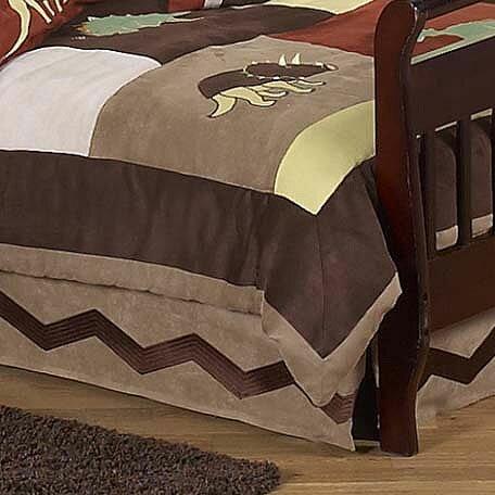 Dinosaur Land Queen Bed Skirt by Sweet Jojo Designs