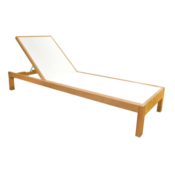 Hamilton Reclining Teak Chaise Lounge by OASIQ