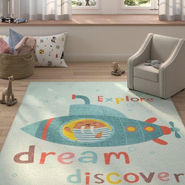 Engler Submarine Dream Sky Blue Area Rug by Zoomie Kids