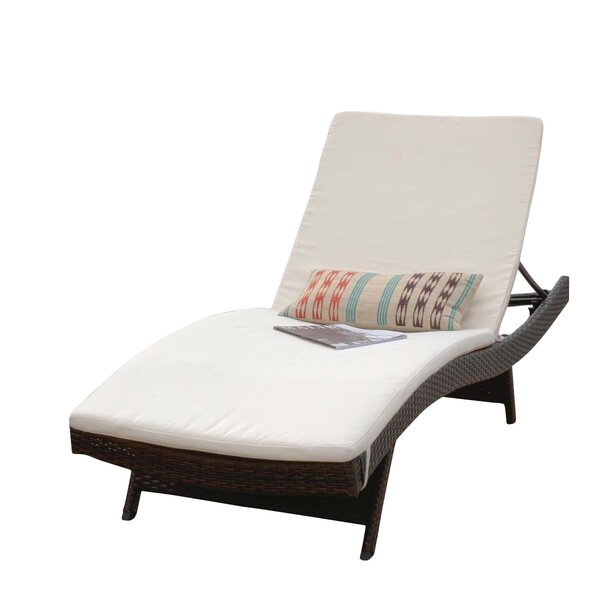 Indoor/Outdoor Sunbrella Chaise Lounge Cushion (Set of 2) by Home Loft Concepts