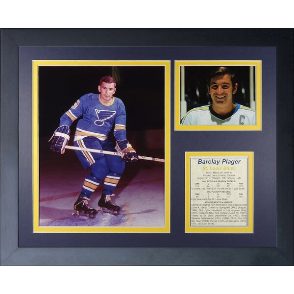 Barclay Plager Framed Memorabilia by Legends Never Die