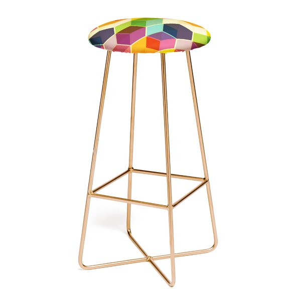 Fimbis Retro Hexagonzo 30 Bar Stool by East Urban Home