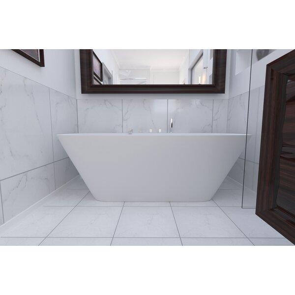 Arabella 68.5 x 34.25 Soaking Bathtub by Aquatica