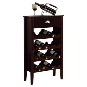 16 Bottle Floor Wine Rack by Monarch Specialties Inc.