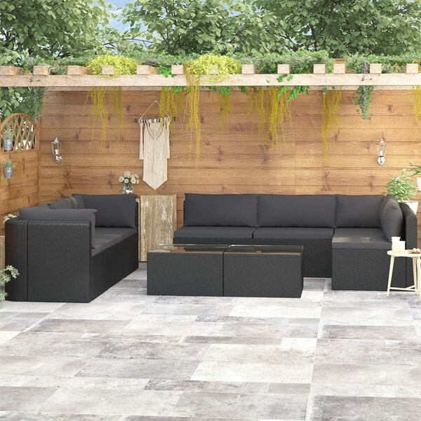 Andranique 9 Piece Sectional Seating Group with Cushions by Latitude Run