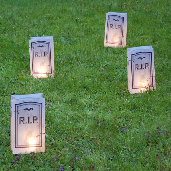 Tombstone Battery Operated Luminaria Kit with Timer by LumaBaseTombstone Battery Operated Luminaria Kit with Timer by LumaBase