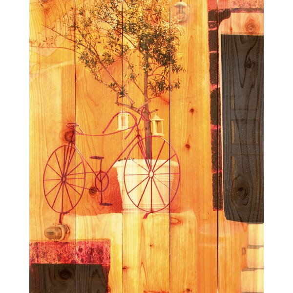 Red Bicycle Photographic Print by Gizaun Art