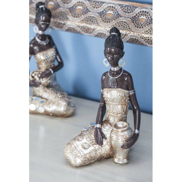 Polystone African Lady Figurine by Cole & Grey