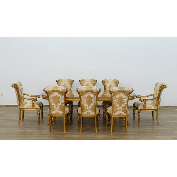 Phaidra 9 Piece Extendable Solid Wood Dining Set