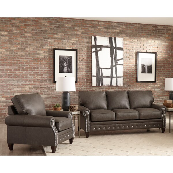Jacey 2 Piece Leather Living Room Set by 17 Stories