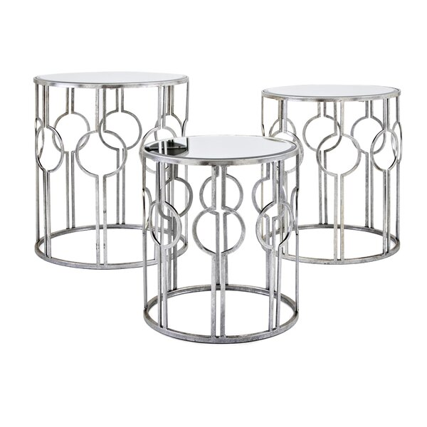 Roush Mirror 3 Piece Nesting Tables By Mercer41