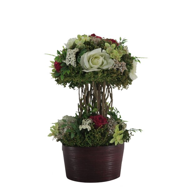 Mixed Rose Centerpiece in Planter by Red Vanilla