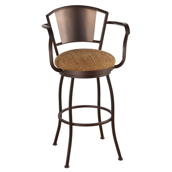 Leia 34 Swivel Bar Stool by Alcott Hill
