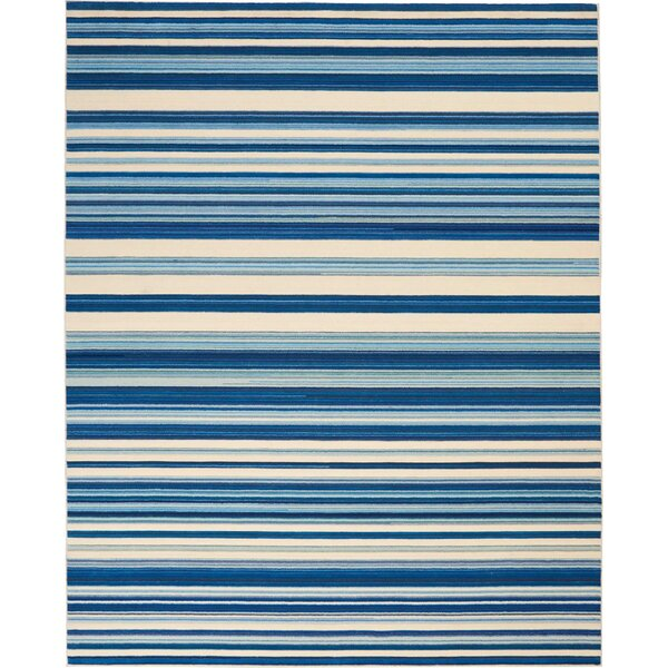 Creme/Ocean Blue Area Rug by Barclay Butera Lifestyle