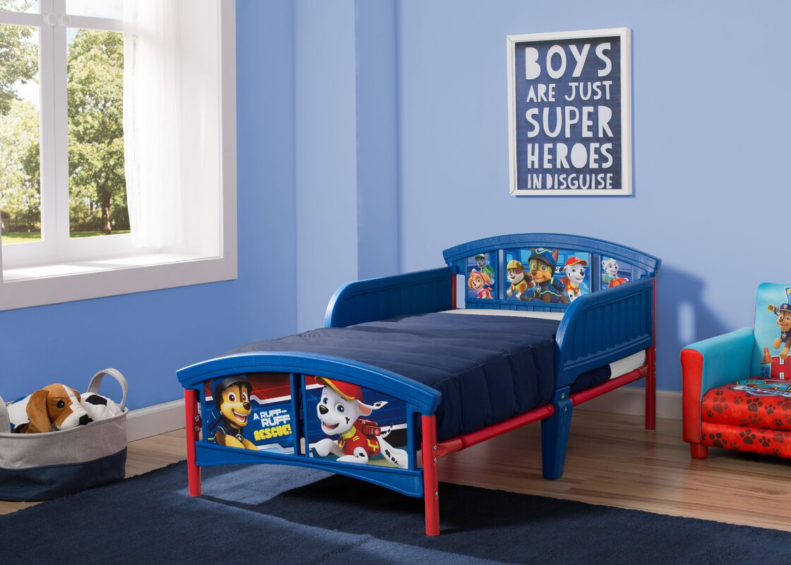 Delta Children Nick Jr. PAW Patrol Plastic Toddler Bed & Reviews ...