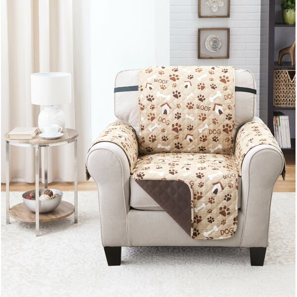 Print T-Cushion Armchair Slipcover by Winston Porter
